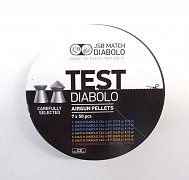 Diabolo JSB TEST Match 4,5mm puškové 7x50ks