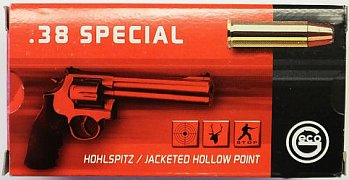 Náboj Geco .38 Special JHP 10,2g 50 ks