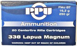 Náboj Prvi Partizan .338 Lapua Magnum FMJ 16,2g 20 ks