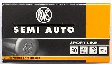 Náboj RWS .22 LR Semi Auto Sport Line 2,6g 50 ks - 1