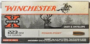 Náboj Winchester .223 Rem Power Point 4,15g 20 ks