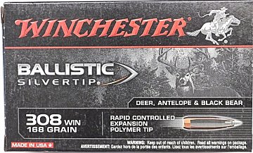 Náboj Winchester .308 Win. Ballistic Silvertip 10,89g 20 ks - 1
