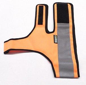 Reflexní návlek pro psy s reflexním pruhem vel. XL oranžová - 1