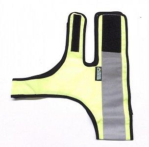 Reflexní návlek pro psy s reflexním pruhem vel. XL žlutá - 1