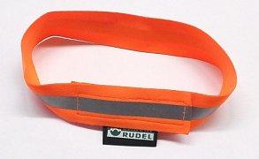 Reflexní obojek s reflexním pruhem oranžový