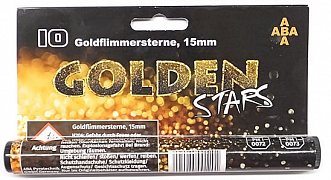 Světelná pyrotechnika - Goldflimmersterne GOLDEN STARS 15mm 10 ks