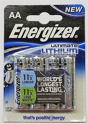 Baterie Energizer Ultimate Lithium AA 4 ks
