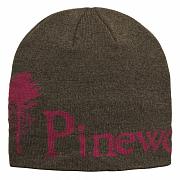 Čepice Pinewood Melange 5897 hnědá/burgundy UNI