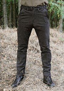 Kalhoty Carl Mayer kožené hnědé vel. 56 - 1