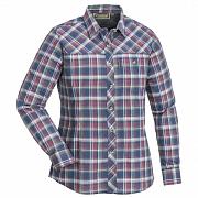Košile PINEWOOD Cumbria s dlouhým rukávem modro/růžová 9328 dámská vel. S