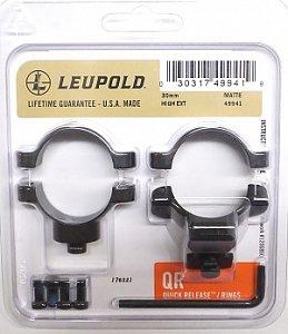 Kroužky LEUPOLD QR 30mm odskočené matné vysoké (49941) - 1
