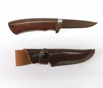 Lovecký nůž dřevěnou rukojetí 9 cm - 1