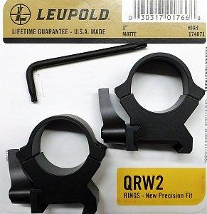 Montáž Leupold QRW2 25,4mm rychloupínací vysoké matné  - 1