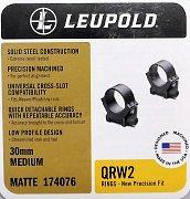 Montáž Leupold QRW2 30mm střední matné