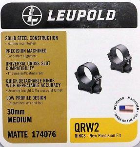 Montáž Leupold QRW2 30mm střední matné  - 1