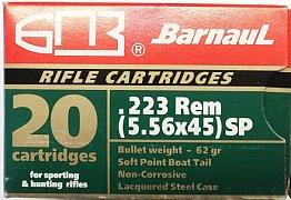 Náboj Barnaul .223 Remington 3,56g SP