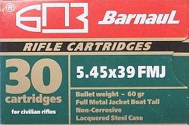 Náboj Barnaul 5,45x39 FMJ 3,85g 30 ks