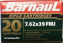 Náboj Barnaul 7,62x39 8g FMJ 20 ks