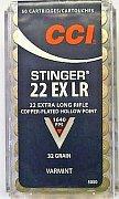 Náboj CCI .22 EX LR Stinger 50 ks