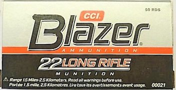 Náboj CCI .22 LR Blazer 50 ks