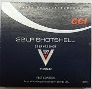Náboj CCI .22 LR Shotshell brokový 20 ks