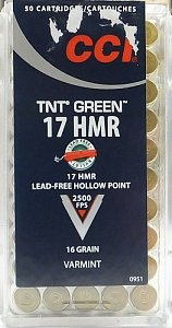 Náboj CCI 17 HMR TNT Green 50ks - 1