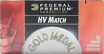 Náboj Federal 22 LR Gold Medal HV Match 50ks