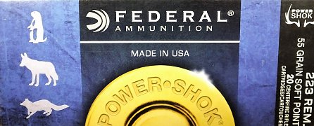 Náboj Federal 223Rem. POWER SHOK 55gr. 20ks