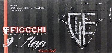 Náboj Fiocchi 9 Steyr FMJ 7,45g 50ks