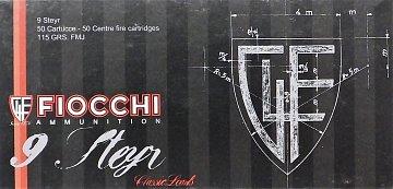Náboj Fiocchi 9 Steyr FMJ 7,45g 50ks - 1