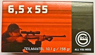 Náboj Geco 6,5x55 TM 10,1g 20 ks