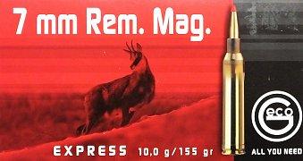 Náboj GECO 7mm Rem Mag Express 10g 20ks