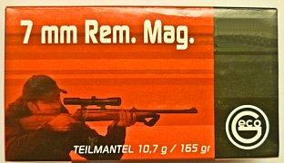 Náboj Geco 7mm Rem. Mag. TM 10,7g 20 ks