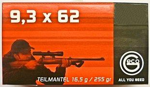 Náboj Geco 9,3x62 TM 16,5g 20 ks