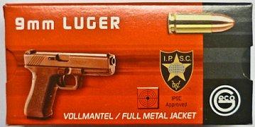 Náboj GECO 9mm Luger FMJ 8g 50 ks