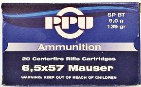 Náboj Prvi Partizan 6,5x57 Mauser 9g 20 ks