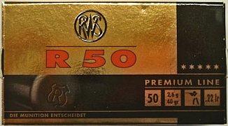 Náboj RWS .22 LR R50 50 ks