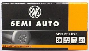 Náboj RWS .22 LR Semi Auto Sport Line 2,6g 50 ks
