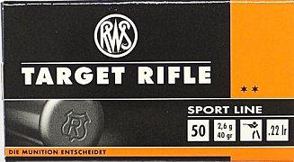 Náboj RWS .22 LR Target Rifle 2,6g 50g