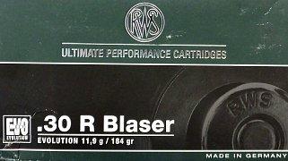 Náboj RWS .30R Blaser EVO 11,9g 20ks