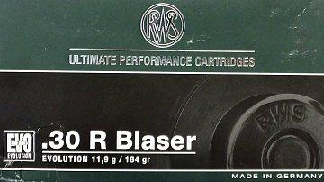 Náboj RWS .30R Blaser EVO 11,9g 20ks - 1