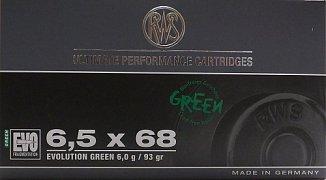 Náboj RWS 6,5x68 EVO GREEN 6g 20ks