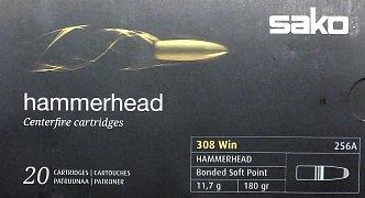 Náboj SAKO 308 Win. Hammerhead 11,7g SP 20 ks