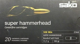 Náboj SAKO .308 Win. Super Hammerhead 11,7g 20 ks