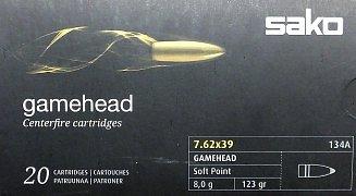 Náboj SAKO 7,62x39 Gamehead 8g 20 ks