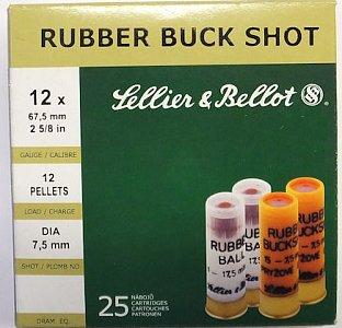 Náboj S&B 12x67,5 Rubber Buck Shot 25 ks - 1
