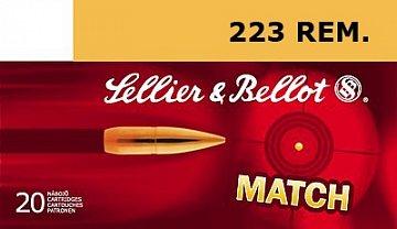 Náboj S&B 223 Rem. HPBT 4,5g MATCH 20ks - 1