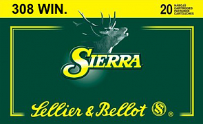 Náboj S&B 308 Win. Sierra 20 ks