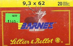 Náboj S&B 9,3x62 Barnes 20ks