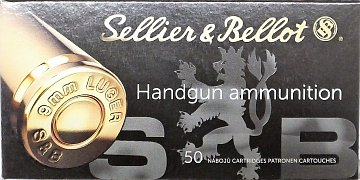 Náboj S&B 9mm Luger 6,5g SP 50 ks
